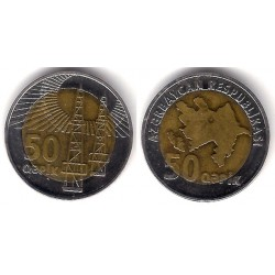 (44) Azerbaiyán. 2006. 50 Qapik (MBC)