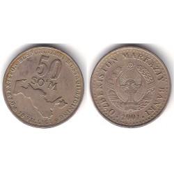 (15) Uzbekistán. 2001. 50 Som (MBC)