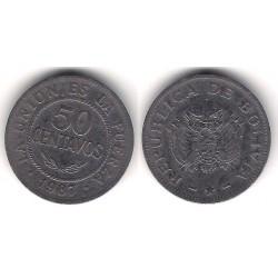 (204) Bolivia. 1987. 50 Céntimos (BC+)