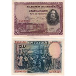 España. 1928. 50 Pesetas (MBC+) Serie E