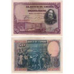 España. 1928. 50 Pesetas (MBC) Serie D