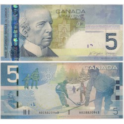 (101Aa) Canadá. 2006. 5 Dollars (MBC) Leve rotura margen superior