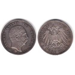 (1246) Estados Alemanes (Sajonia). 1902(E). 5 Mark (EBC) (Plata)