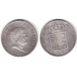 (C153) Estados Italianos (Nápoles y Sicilia). 1853. 120 Grana (MBC) (Plata)