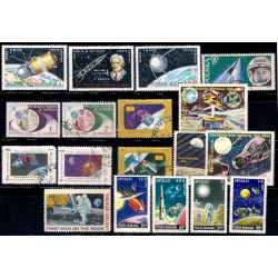 Lote de sellos de varios paises. Astronáutica (Usado)