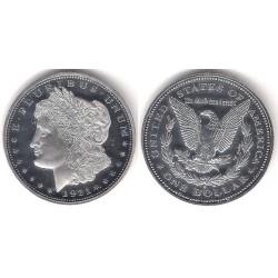 (RÉPLICA) Estados Unidos de América. 1921(S). 1 Dollar (Proof) (Plata)