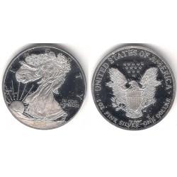 (RÉPLICA) Estados Unidos de América. 2002. 1 Dollar (Proof) (Plata)