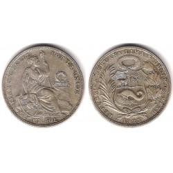 (217) Perú. 1923. 1 Sol (MBC+) (Plata)