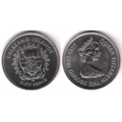 (10) Islas Malvinas. 1977. 50 Pence (SC)
