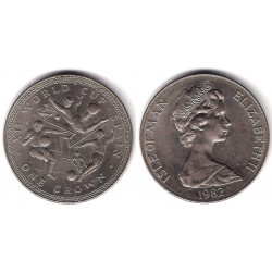 (93) Isla de Man. 1982. 1 Crown (SC)