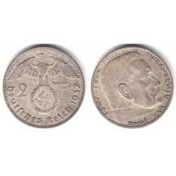 (93) Alemania (III Reich). 1937(A). 2 Mark (MBC) (Plata)