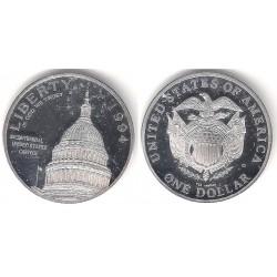 (RÉPLICA) Estados Unidos de América. 1947(A). 1 Dollar (Proof) (Plata)