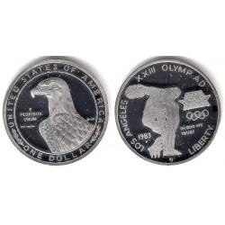 (RÉPLICA) Estado Unidos de América. 1983(P). 1 Dollar (Proof) (Plata)