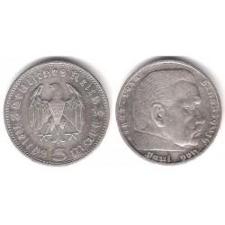 (86) Alemania (III Reich). 1936(A). 5 Mark (MBC+) (Plata)