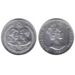 (31a) Islas Cook. 1986. 1 Dollar (EBC+) (Plata)