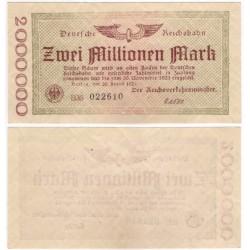 (S1012a) Alemania (Min. de Transp.) 1923. 20 Millionen Mark (EBC) Berlín