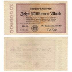 (S1014) Alemania (Min. de Transp.). 1923. 10 Millionen Mark (MBC) Berlín