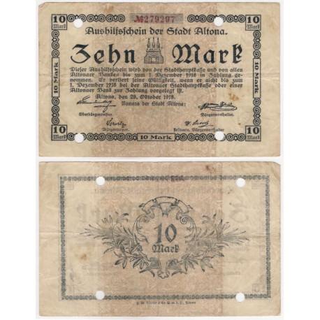 Altona (Hamburg). 1918. 10 Mark (BC+)