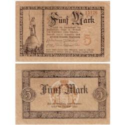 Detmold (Renania del Norte-Westfalia). 1918. 5 Mark (MBC)