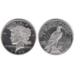 (RÉPLICA) Estados Unidos de América. 1922. 1 Dollar (Proof) (Plata)