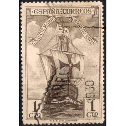(531) 1930. 1 Céntimo. Nave Santa María (Usado)