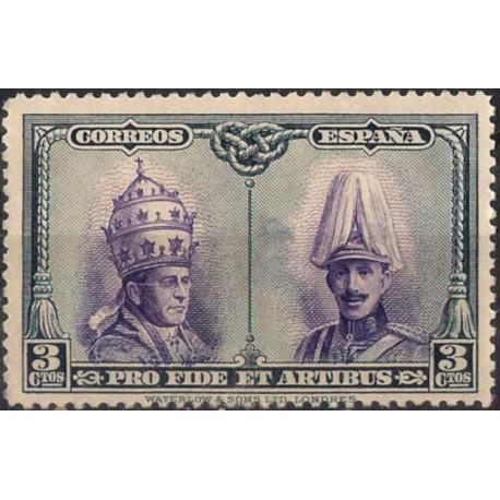 (420) 1928. 3 Céntimos. Pro Catacumbas (Usado)