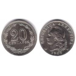 (36) Argentina. 1909. 20 Centavos (SC)