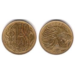 (45) Etiopía. 1969. 10 Cents (BC+)
