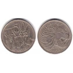 (47) Etiopía. 1969. 50 Cents (BC)