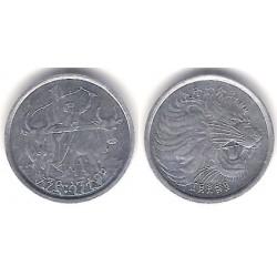 (43) Etiopía. 1969. 1 Cent (EBC)