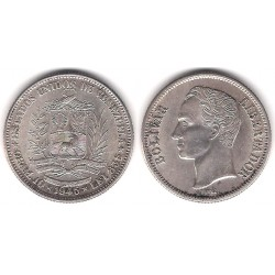 (Y23a) Venezuela. 1945. 2 Bolivares (EBC) (Plata)