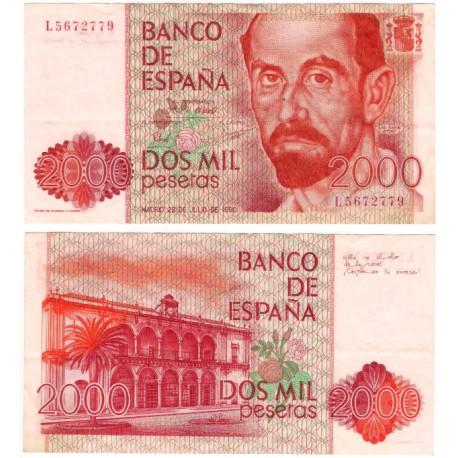 España. 1980. 2000 Pesetas (MBC) Serie L