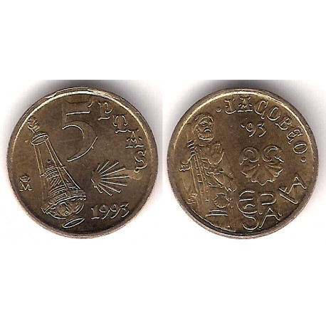 España. 1993. 5 Pesetas (EBC+) Exceso de Metal