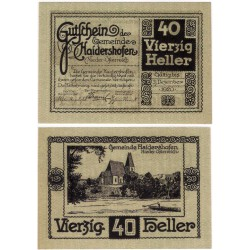 Haidershofen (Baja Austria). 1920. 40 Heller (EBC+)