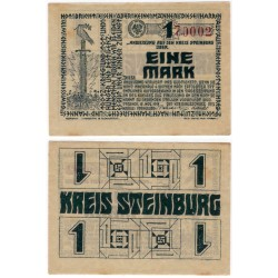 Steinburg (Schleswig-Holstein). 1918. 1 Mark (EBC)