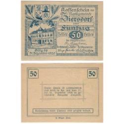 Ziersdorf (Baja Austria). 1920. 50 Heller (EBC+)