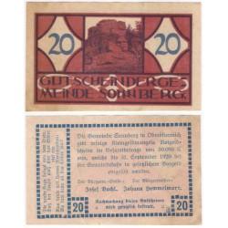 Sonnberg. 1920. 20 Heller (EBC+)