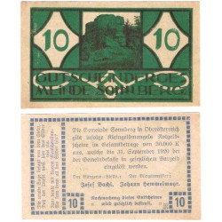 Sonnberg. 1920. 10 Heller (EBC+)