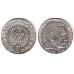 (86) Alemania (III Reich). 1935(F). 5 Mark (MBC+) (Plata)