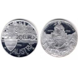 Austria. 1996. 20 Euro (Proof) (Plata)