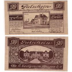Sankt Georgen im Attergau (Alta Austria). 1920. 10 Heller (EBC)