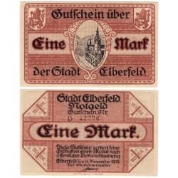 Elberfeld (Renania del Norte-Westfalia). 1918. 1 Mark (EBC+)