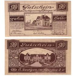 Sainkt Georgen im Attergau (Alta Austria). 1920. 10 Heller (EBC+)