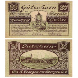 Sankt Georgen im Attergau (Alta Austria). 1920. 10 Heller (EBC+)