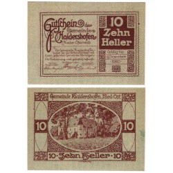 Haidershofen (Baja Austria). 1920. 10 Heller (EBC)