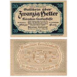 Kärnten. 1920. 20 Heller (EBC+)
