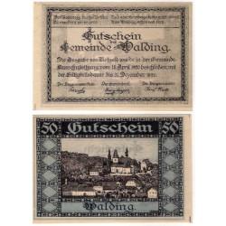 Walding (Alta Austria). 1920. 50 Heller (EBC+)
