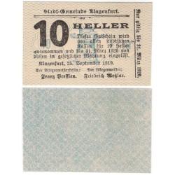 Klagenfurt (Carintia). 1919. 10 Heller (EBC+)