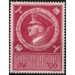 (B271) Imperio Alemán (III Reich). 1944. 54 + 96 Pfennig. 55 Aniversario Hitler (Nuevo)