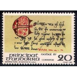 (182) Andorra. 1987. 20 Pesetas. Doctrina Pueril: de Nativitat (Nuevo)